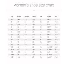 International Footwear Size Chart Size Guide Cln