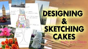 Pretty Witty Designs Designing Sketching Cakes Pretty Witty Cakes