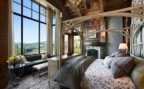 Schlafzimmer Retro Stil Bett Fenster 1920x1200 Hd
