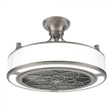 stile 22 in indoor outdoor brushed nickel light and ceiling fan