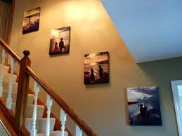 canvas pictures going up the stairs
