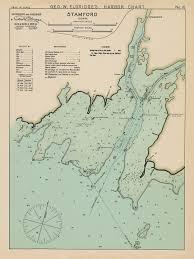 Stamford Ct Colored Nautical Chart