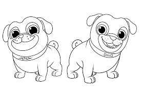 View and print full size. Puppy Dog Pals Coloring Pages To Print