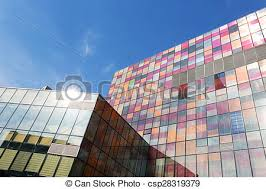 modern office exterior. Modern Office Building Exterior And Skyline - Csp28319379