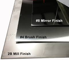 Stainless Steel Grit Finish Chart Metalsdepot T304 Stainless Steel Sheet