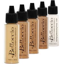 tan color shade foundation set of belloccio s professional cosmetic airbrush makeup in 1 2 oz bottles
