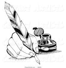 quill clipart hand writing