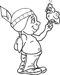 Small Picture Indian coloring pages with bird ColoringStar
