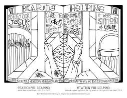 Stations Of The Cross Coloring Pages For All Ages Illustrated