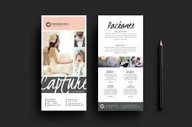 Rack Card Template Wedding Photographer Rack Card Template for Photoshop Illustrator 1