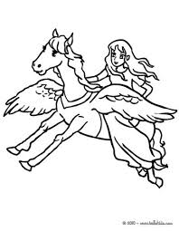 Small Picture Fairy on pegasus back coloring pages Hellokidscom