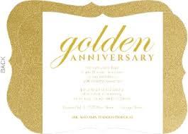 shimmering golden 50th anniversary party invitation