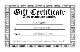 Gift Certificates Samples Simple Free Downloadable PDF Certificates Awards Teachnet