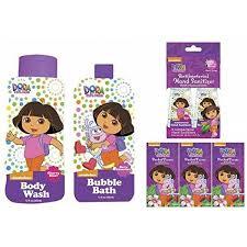 berry cherry dora the explorer bath wash up kit 7 piece bubble