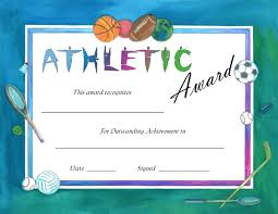 Athletic Certificate Template Brochure Templates Sports