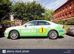 geico insurance company car washington dc usa stock photo