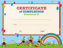 certificates of completion for kids kindergarten preschool kids diploma design template stock vector