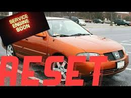 How to reset Service Engine soon Light on a 2001 Nissan Sentra ...