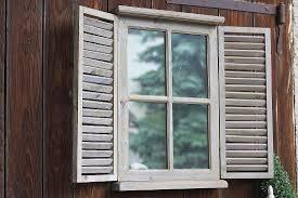 Wandspiegel Chase Mit Fensterladen Holz Shabby Landhaus Stil Spiegel