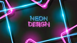 Abstract Glowing Neon Black Background Design Download