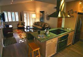 small open kitchen and living room open plan design ideas