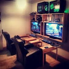... Interior Game Room Layout Ideas Top 25 Best Gaming Setup On Pinterest  Cute