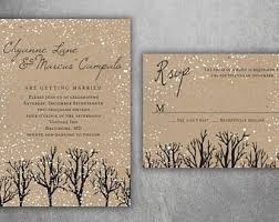 Rustic Winter Wedding Invitations Rustic Winter Wedding Invitations Snow Wedding Invitation Etsy