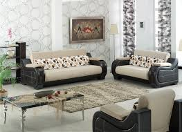 Modern Furniture Living Room Furniture Modern Wood Furniture Table With Ivory Chairs For