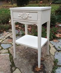 Shabby chic nightstand Rustic Vintage Shabby Chic White Painted Nightstand Overstock Vintage Painted White Shabby Chic Nightstand