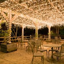 outdoor lighting idea. Hang White Icicle Lights To Create Magical Outdoor Lighting This Ideas For A Wedding 2017 Idea