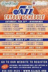 youth select basketball tryout flyers south jersey jazz basketball