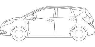 車の塗り絵cadデータ 自動車塗り絵ダウンロード