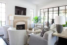 gray sofa with light gray accent chairs