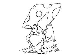 Small Picture Gnome Coloring Pages Coloring Home