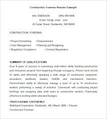 Construction Resume Examples Custom 28 Construction Resume Templates DOC PDF Free Premium Templates