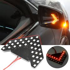 Led Car Signal Lights 1pc Amber Arrow 33 Smd Led Car 2 6w For Car Side Mirror Turn Signal Lights Car Accessories Yellow Light