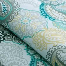 green turquoise blue mizone tamil paisley blue comforter collection dark grey bedding