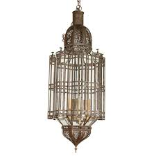 large scale moroccan pendant chandelier clear glass for