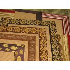 jute rug with printed cotton border