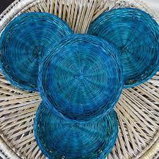 vintage colorful rattan 10 quot