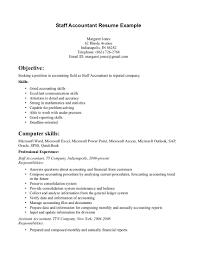 Accounting Skills Resume Staff Accountant Resume Jobsxs Com
