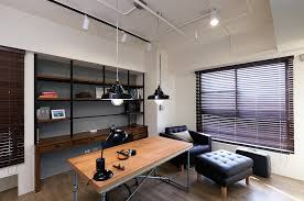 saveemail industrial home office. Office:Stylish Industrial Home Office With Wood Table Also Black Sofa Ottoman And Modern Saveemail E