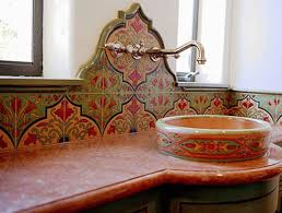 mural of spanish tile backsplash best choice for creating mexican