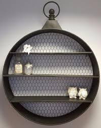1 of 2only 2 available large round wall shelf display vintage industrial style storage shelves unit