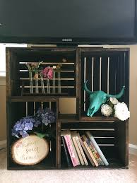 diy wooden crate tv stand shelf