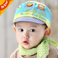 cute baby boys s hat cotton ed korean cap newborn toddler infant flat baby caps kids summer sun hats c803 in hats caps from mother