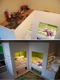 Kids beds with storage ikea Twin Ikea Mydal Loftbed With Play Area With Mydal Loftbeds Trofast Storage Combination Hative 20 Awesome Ikea Hacks For Kids Beds Hative