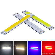 60x8mm 1w 3w cob led light source dc 3v 4v lamp chip on board battery powered diy bulb warm pure white blue red 7443 led bulb g4 led bulbs from sumbulbs