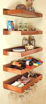 wood floating shelves in kitchen 7 decorating ideas wine glass storage shelf rack