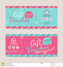 gift card formats gift voucher template stock vector illustration of card